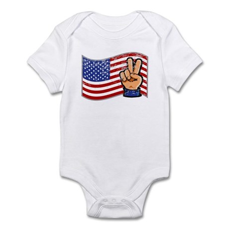 Patriotic Peace Hand Infant Bodysuit