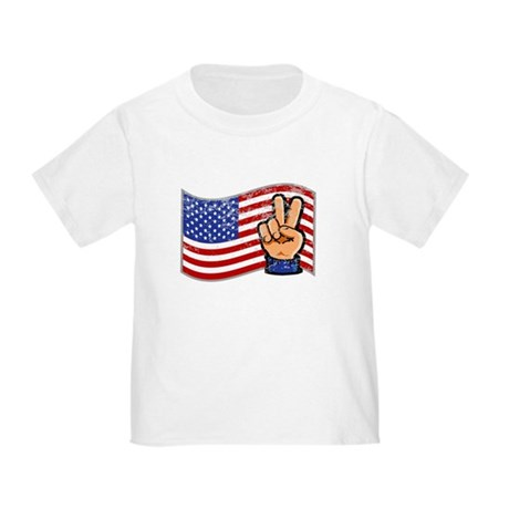 Patriotic Peace Hand Toddler T-Shirt