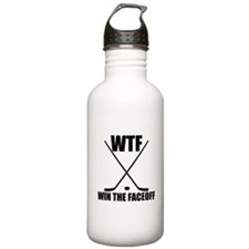 WTF Win The Faceoff Sports Water Bottle