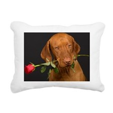 Valentines Dog Rectangular Canvas Pillow