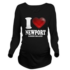 I Heart Newport Long Sleeve Maternity T-Shirt