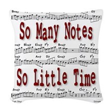 So Many Notes Woven Throw Pillow