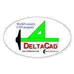 DeltaCad Oval Sticker