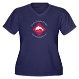Scarlet Dolphin Simple Logo Women's Plus Size V-Ne