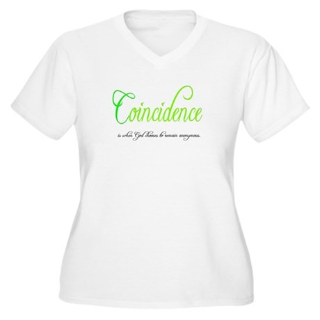 Coincidence Women's Plus Size V-Neck T-Shirt