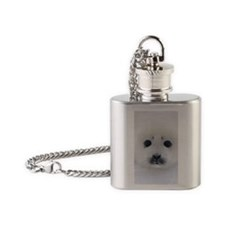 Harp Seal pup on ice Flask Necklace