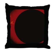 Glowing Red Corona Throw Pillow