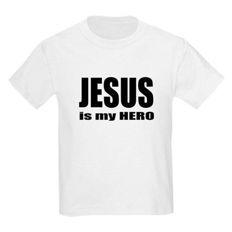 Jesus is Hero Kids Light T-Shirt