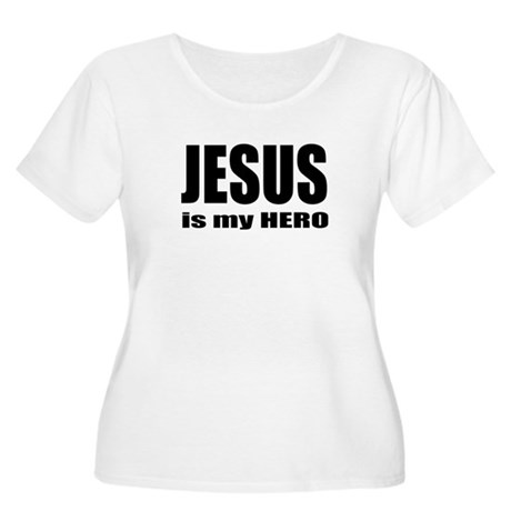 Jesus is Hero Women's Plus Size Scoop Neck T-Shirt