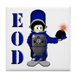 EOD Bomb Suit Tile Coaster