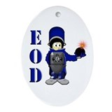 EOD Bomb Suit Oval Ornament