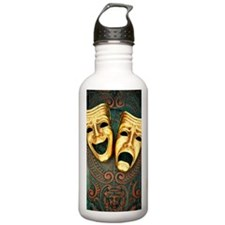 Golden comedy and trag Water Bottle