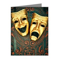 Golden comedy and tragedy ma Note Cards (Pk of 10)