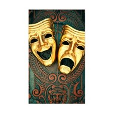 Golden comedy and tragedy mask Decal
