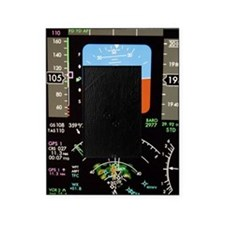 Aeroplane control panel display Picture Frame