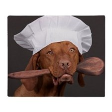 vizsla chef Throw Blanket