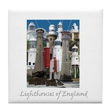 Lighthouses of England Tile Coaster