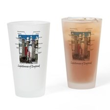 Lighthouses of England Drinking Glass