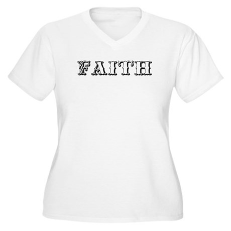 Faith Women's Plus Size V-Neck T-Shirt