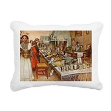 Carl Larsson: Christmas  Rectangular Canvas Pillow