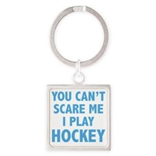 scarePlayHockey1C Square Keychain