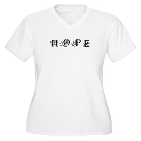 Hope Women's Plus Size V-Neck T-Shirt