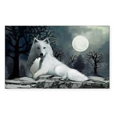 White Wolf with Pup Decal