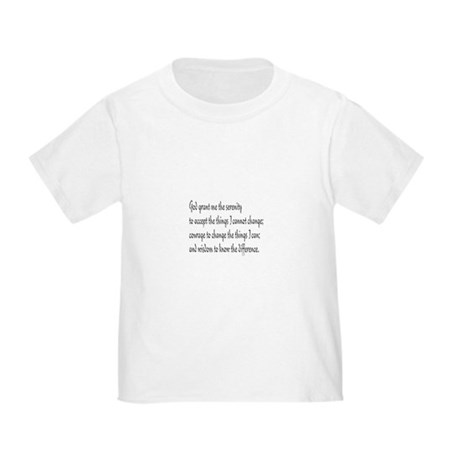Serenity Prayer Toddler T-Shirt