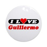 I Love Guillermo Ornament (Round)