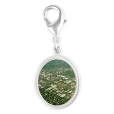 Aerial view of Silicon Valley Silver Oval Charm