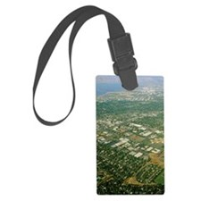 Aerial view of Silicon Valley Large Luggage Tag