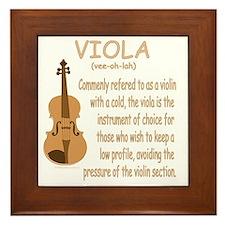 Viola Framed Tile