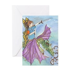 Boy with Dragon Greeting Card