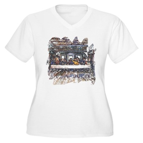 Lord's Last Supper Women's Plus Size V-Neck T-Shir
