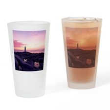 Lighthouse at sunset, Peggy's Cove, Drinking Glass