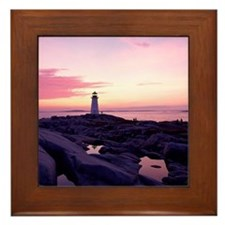Lighthouse at sunset, Peggy's Cove, No Framed Tile