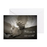 Welcom to Our World Greeting Cards (Pk of 10)