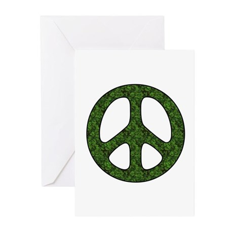 Earth Day Peace Sign Greeting Cards (Pk of 10)