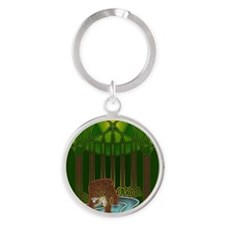 Bear of Wisdom Round Keychain