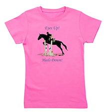 Eyes Up! Heels Down! Horse Girl's Tee