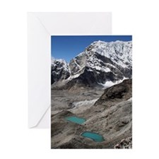 Himalayan landscape in Nepal, Everes Greeting Card