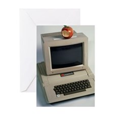 Apple II computer Greeting Card