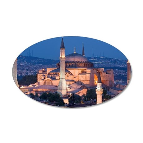 High view of the Hagia Sofia 35x21 Oval Wall Decal