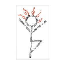 tree yoga pose - ArtinJoy Decal