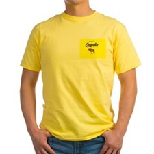 Canindia Yellow Tourist  T-Shirt
