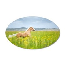 Horse running in field. Wall Decal