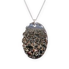 Pebbles and seashells on beach Necklace