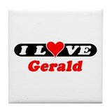 I Love Gerald Tile Coaster