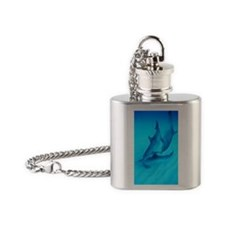 Atlantic spotted dolphins Flask Necklace