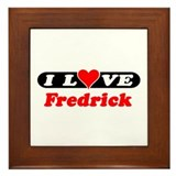 I Love Fredrick Framed Tile